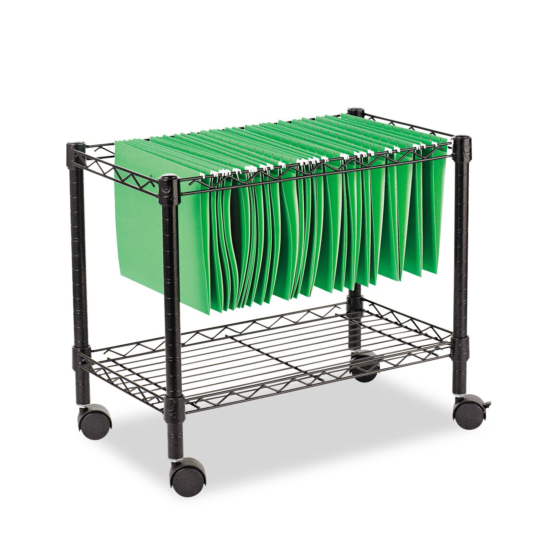 Amazon.com: Alera ALEFW601424BL Single Tier Rolling File Cart, 24w X 14d X  21h, Black: Kitchen U0026 Dining
