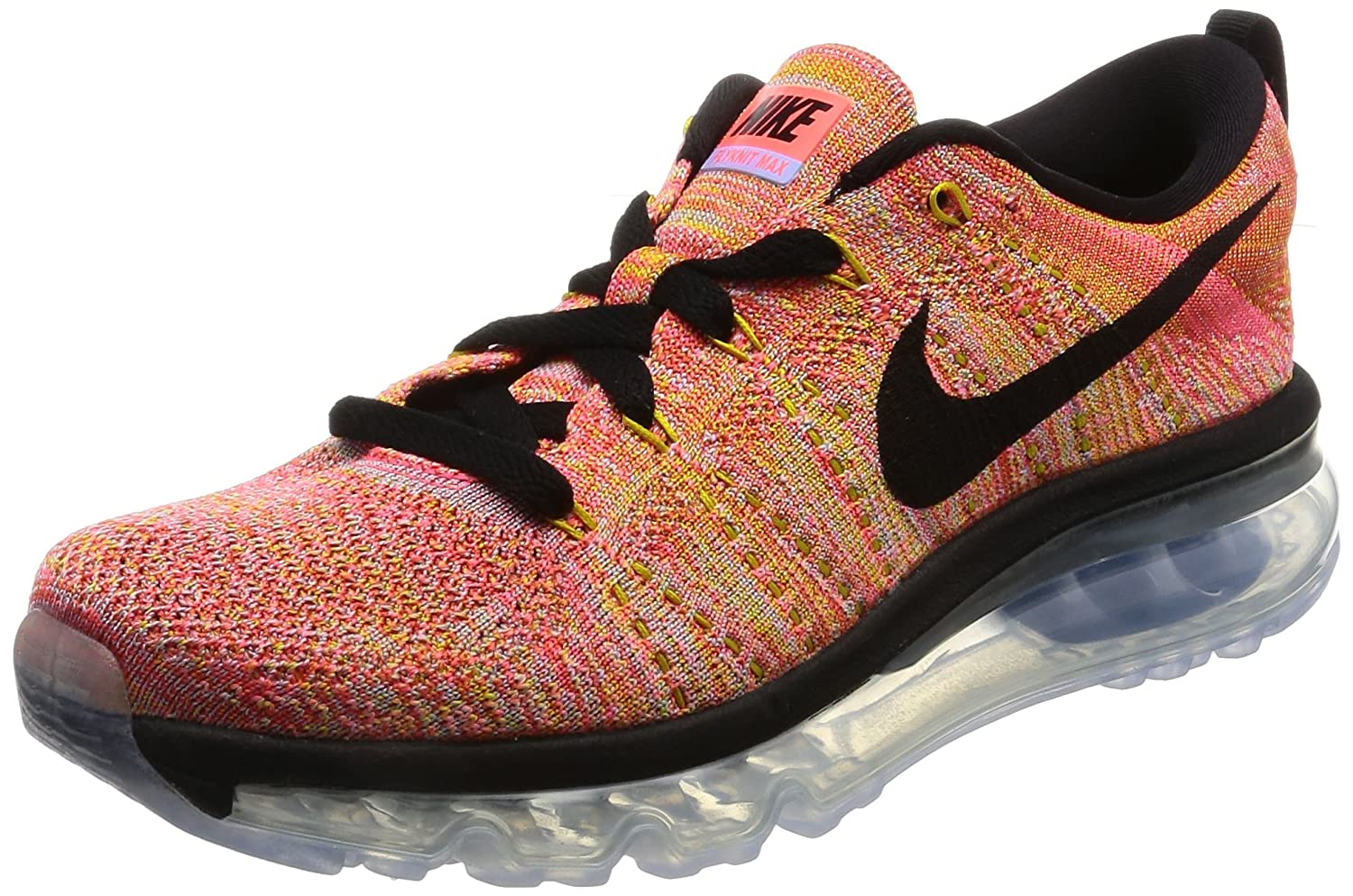 Nike Flyknit air max Womens Running Trainers 620659 Sneakers Shoes (US 7, Aluminium Black hot Punch 406)