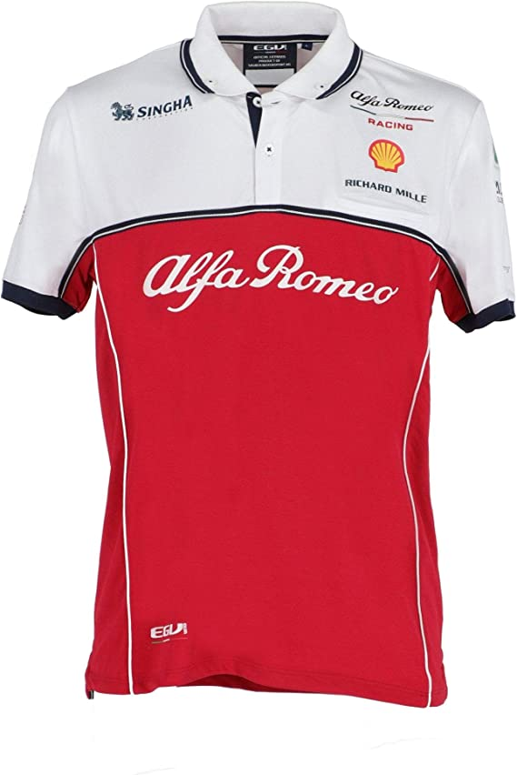 Alfa Romeo Racing F1 Race - Polo técnico 2019 - Rojo - Large ...