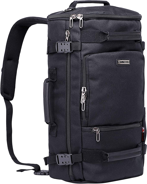WITZMAN Travel Backpack for Men Water Resistant Laptop Backpacks Outdoor Hiking Rucksack Casual Daypack