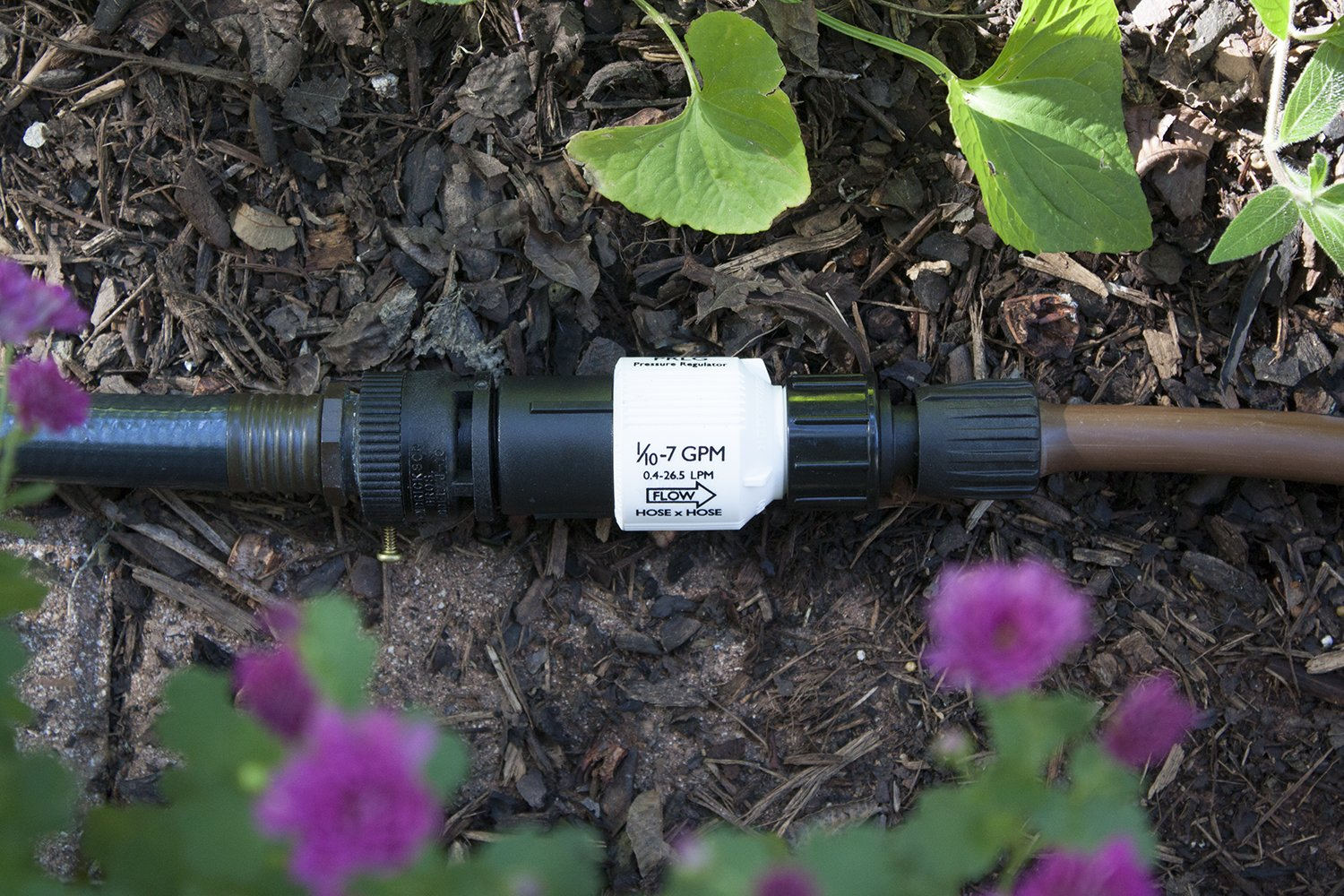 Filter Backflow Preventer Habitech Drip Irrigation Faucet Adapter Kit: Connect 1//2 Tubing to Faucet or Hose No Assembly Required Pressure Regulator