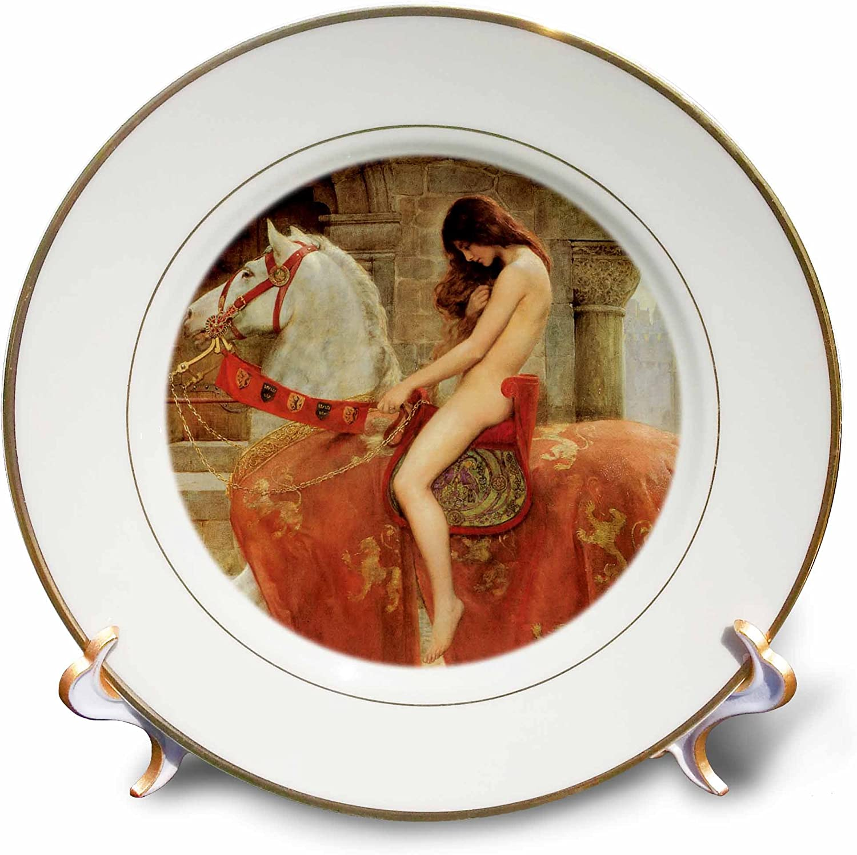 Commemorative Decorative Plates Home Kitchen 3drose Cp 164544 1 Lady Godiva Vintage John Collier Porcelain Plate 8