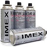 Gaskartuschen Imex | 12 Stück | für Gaskocher Butan