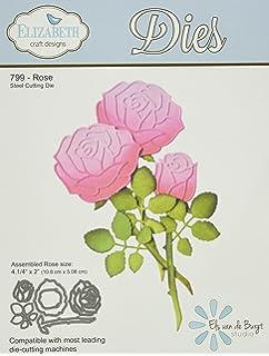 Elizabeth Craft Designs Garden Notes Rose Die Metal Grey Amazon