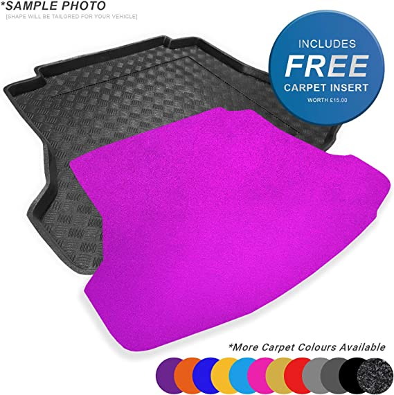 Charcoal Carpet Insert carmats4u To fit Rio HB 2011-2016 Fully Tailored PVC Boot Liner//Mat//Tray