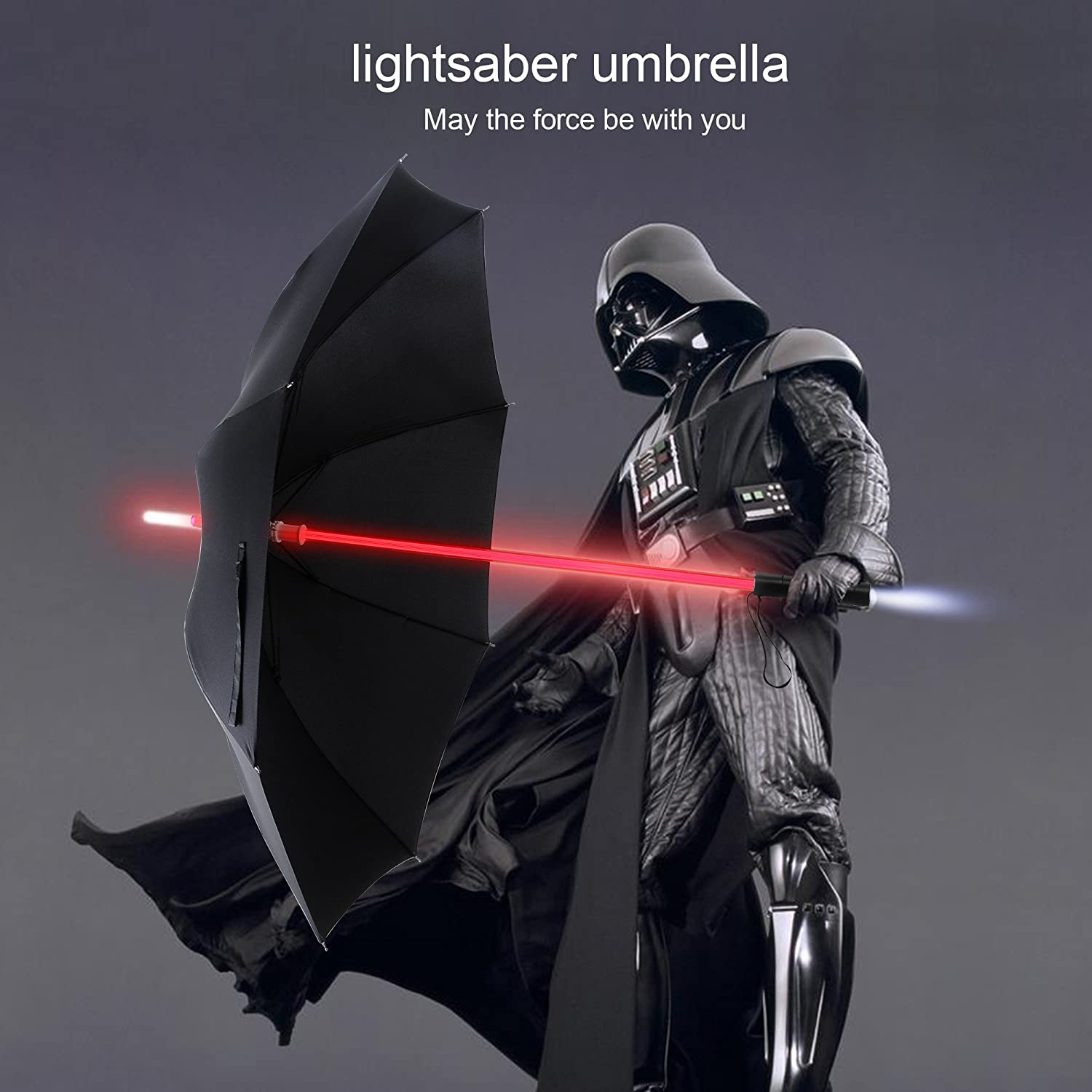 YIER LED Lightsaber Light Up Black Clear Umbrella with 7 Color geeky star wars gifts stuff buy