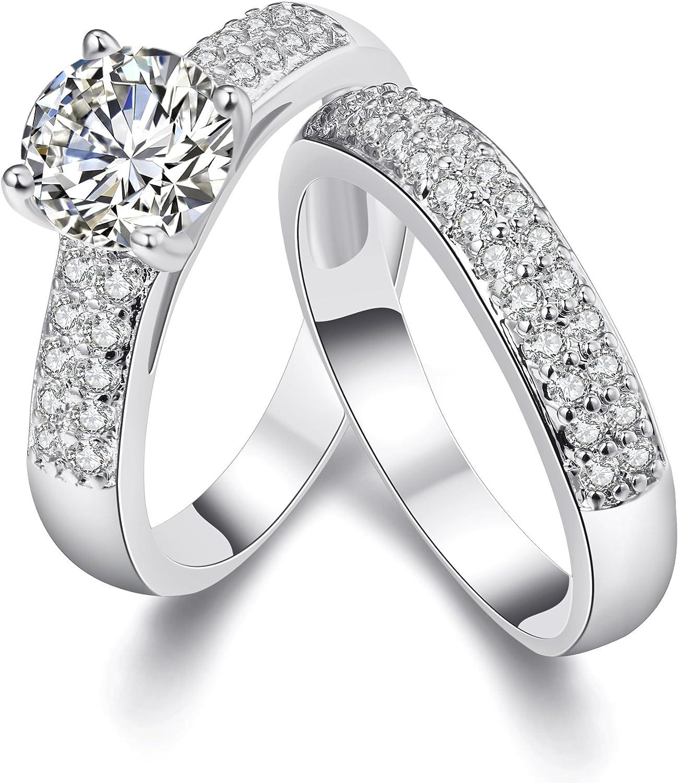 par de anillos de plata