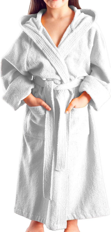 Tessuto in Spugna 100/% Cotone a casa o in Piscina Accappatoio con Cappuccio per Bambine o Bambini e Ragazze