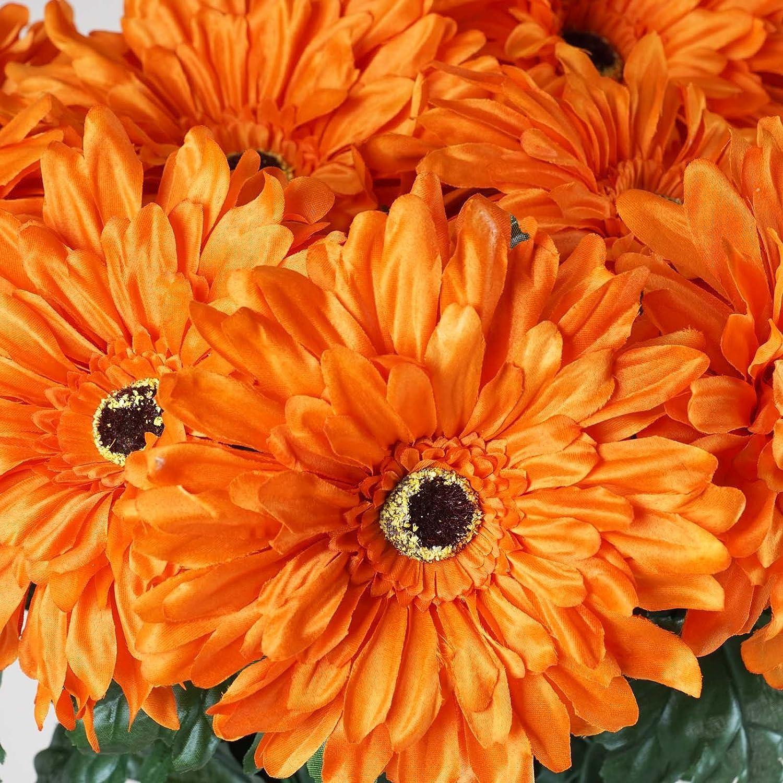 Amazon Com Balsacircle 28 Orange Silk Gerbera Daisy Flowers 4
