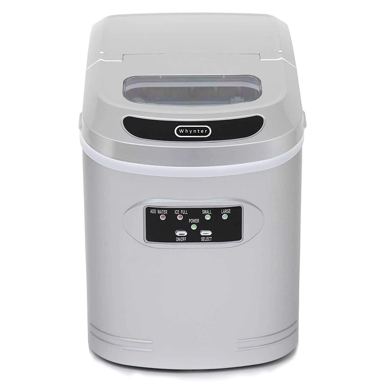 Whynter IMC-270MS Compact Ice Maker, 27-Pound, Metallic Silver Whynter Small Appliances