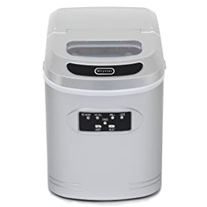 Whynter IMC-270MS Compact Ice Maker, 27-Pound, Metallic Silver