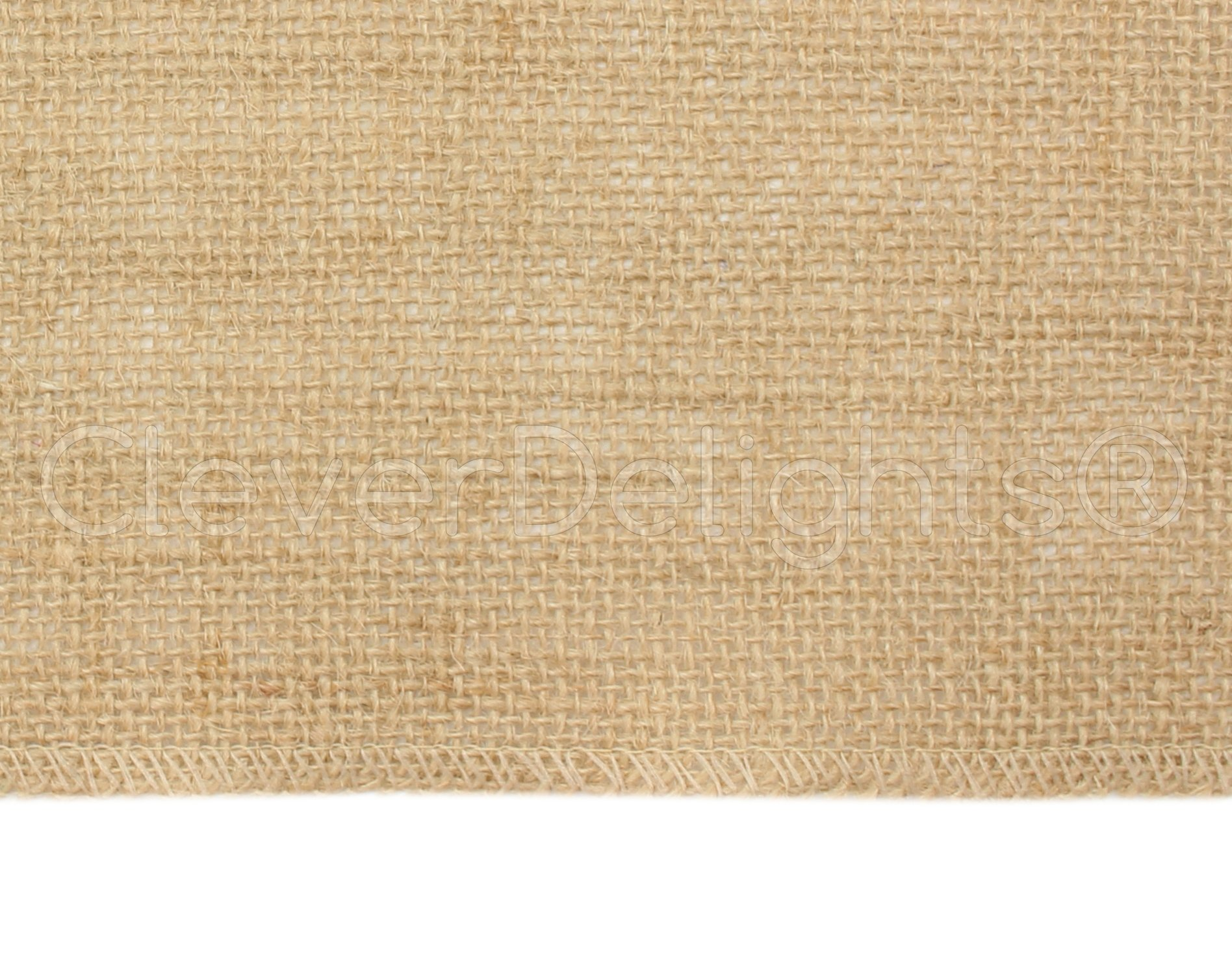 CleverDelights 14'' Premium Burlap Roll - 100 Yards - No-Fray Finished Edges - Natural Jute Burlap Fabric by CleverDelights (Image #2)