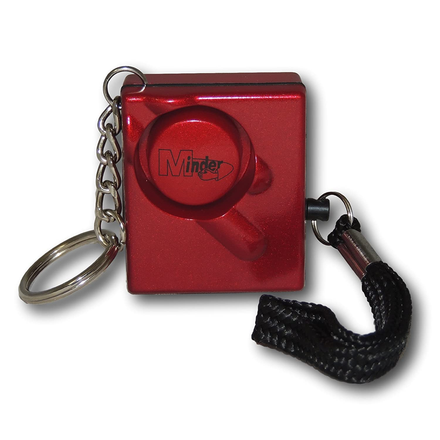 EPOSGEAR Metallic Red Mini Minder Loud Personal Staff Panic Rape Attack Safety Security Alarm 140db