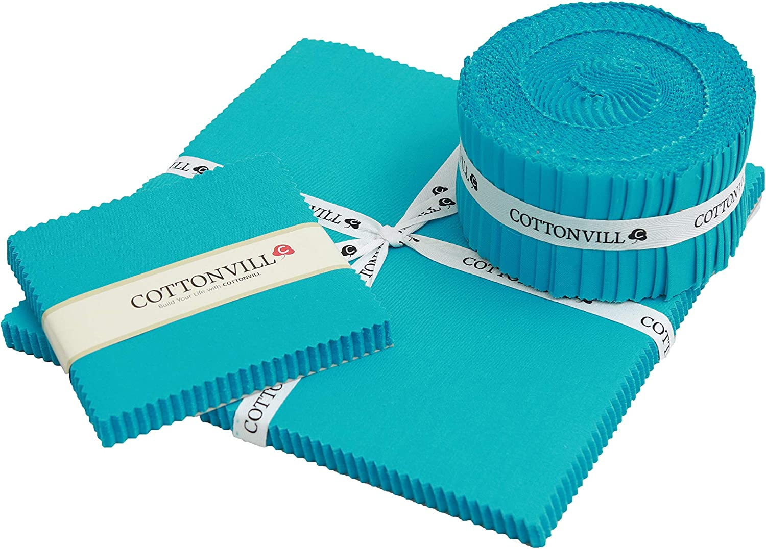 COTTONVILL 20COUNT Cotton Solid Quilting Fabric 10yard, 03-Whisper White