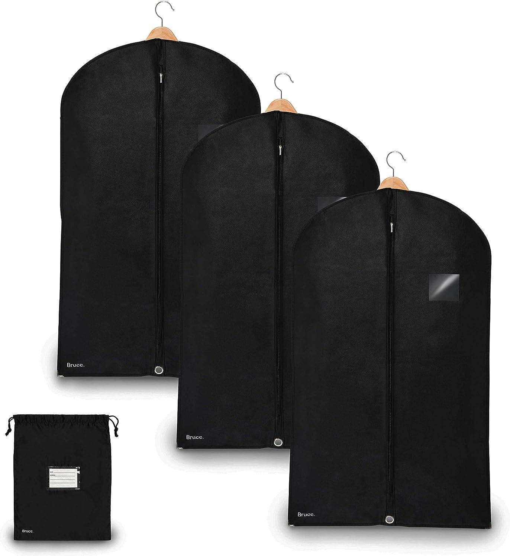 Amazon Com Bruce 3 X Premium Garment Bag Incl Shoe Bag 39 4 X
