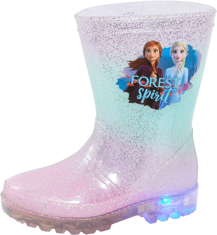 Disney Bottes Wellington clignotantes La Reine des Neiges 2 avec Elsa et Anna