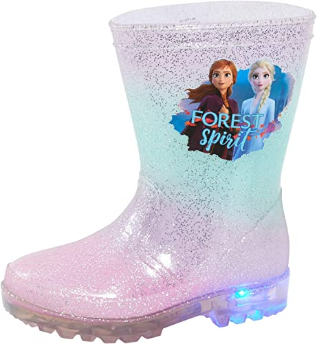 Girls Disney Frozen Wellington Boots Wellies Infant Toddler Kids Size 9