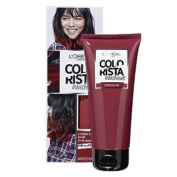 colorista washout 2 semaines couleur temporaire pour cheveux rouge - Coloration Temporaire Rouge