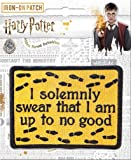 """Ata-Boy Harry Potter I Solemnly Swear 3"""" Full Color Embroidery Iron-On Patch"""