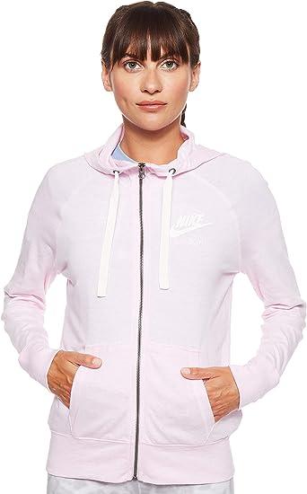 Nike W NSW Gym VNTG Hoodie Fz Veste à Capuche Femme: Amazon