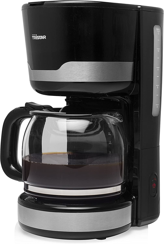 Tristar CM-1249 Cafetera, 1000 W, 1.5 litros, De plástico, Negro ...