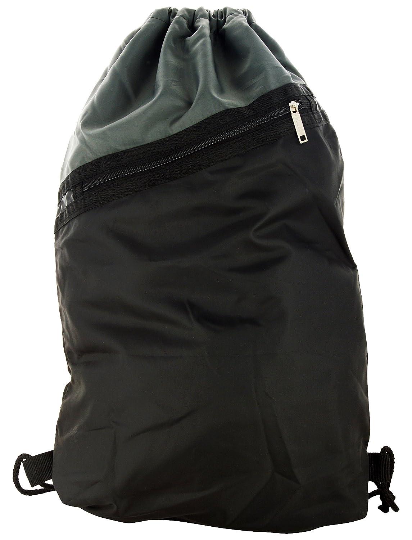 Roadeez Polyester 2.5 Ltrs Grey and Black Drawstring Gym Bag ...