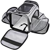 MASKEYON Airline Approved Portable Pet Carrier with Storage Pockets and Removable Pads for Dogs Cats Small Animal