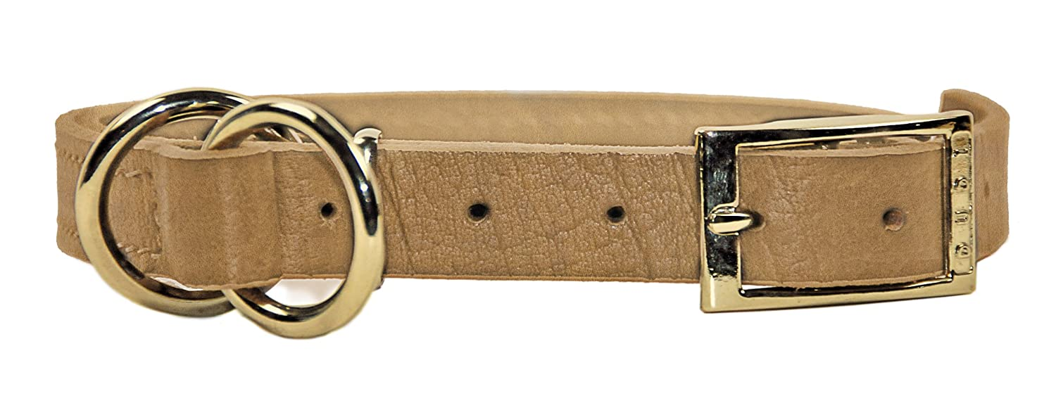 Dean and Tyler STRICTLY BUSINESS , 2-in-1 Dog Choke Collar with Solid Brass Hardware Tan Size 20-Inch by 1-Inch Fits Neck 18-Inch to 20-Inch