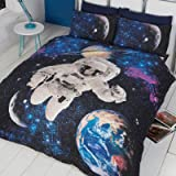 Just Contempo Glow in Dark Spaceman Duvet Cover Set - Double