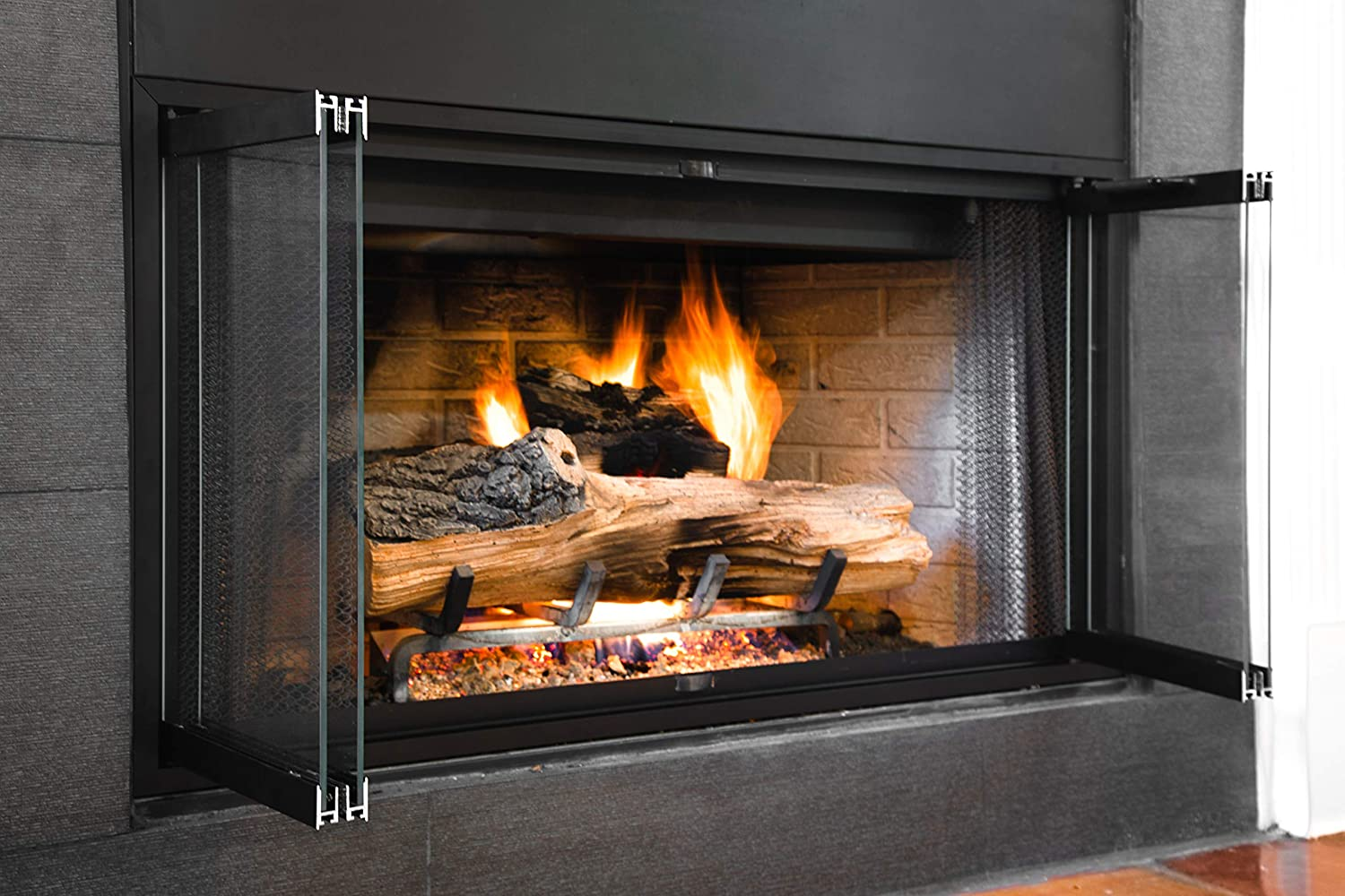 Amazon.com: Superior-Lennox Prefab Fireplace Door | Easy to Install | Frame  Included | Stop Annoying Drafts: Home & Kitchen