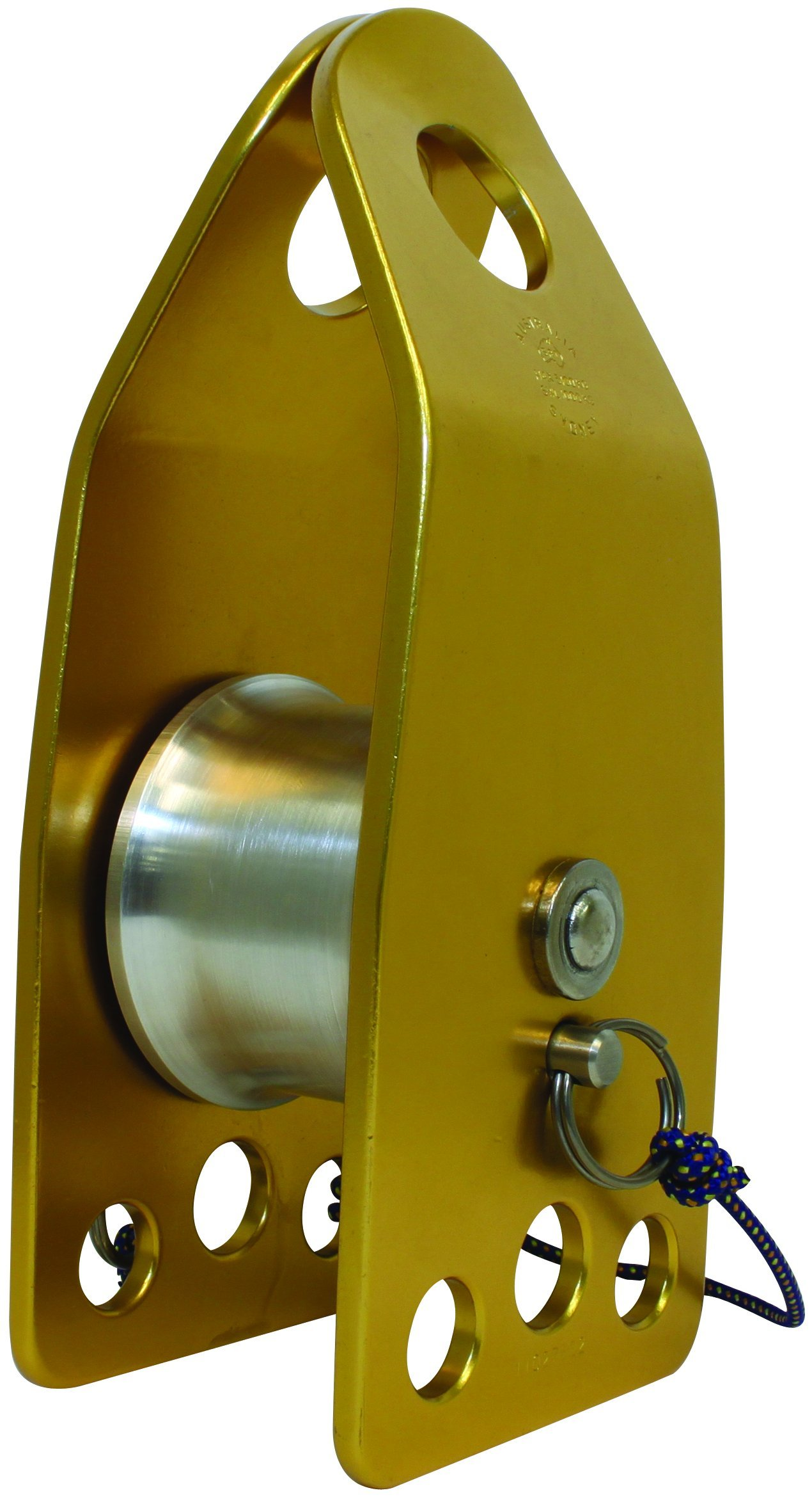 3M DBI-SALA Rollgliss Technical Rescue 8700039 Single Wide Sheave, 80Mm Diameter Knot Passing Pulley, Aluminum, 3'' Diameter, Fits Rope 7/16''-3'', Gold/Silver