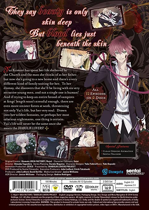 Amazon com: Diabolik Lovers: Blake Shepard, Janice Williams