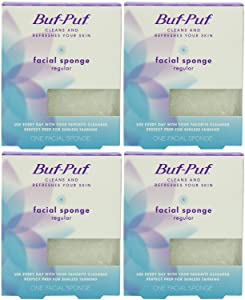 Buf-Puf Reusable Facial Sponge, Regular, 4 Count