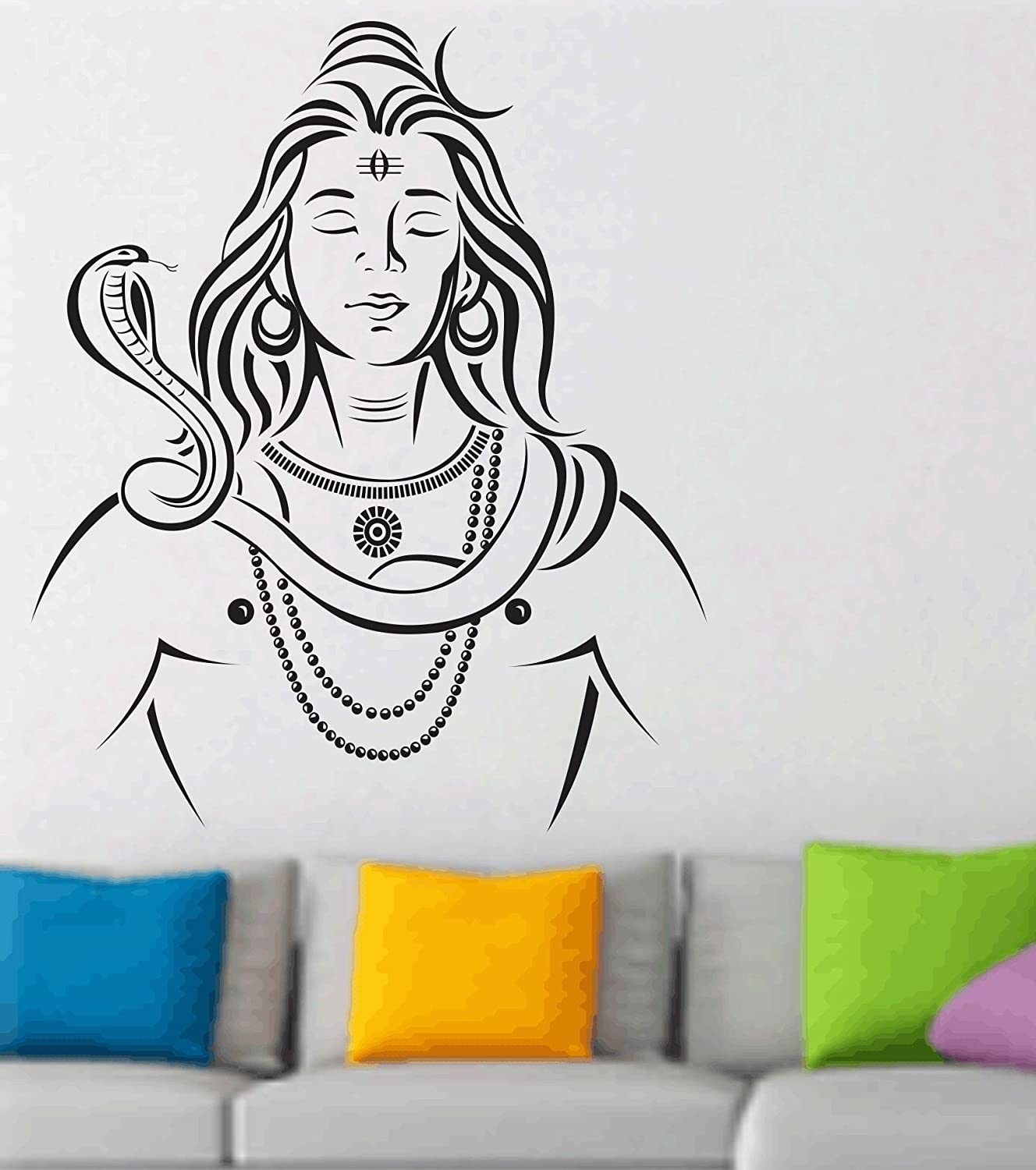 Happy walls meditating lord shiva wall mural wall sticker