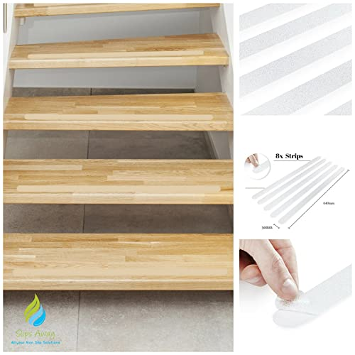 Non Slip Stair Clear Discreet Safety Grip Strips   Perfect For Stairs Step  Laminate Wooden Floor