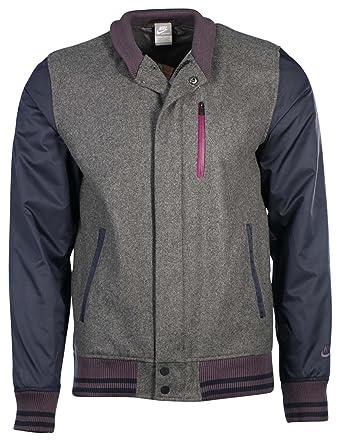 pretty nice c165b 3c073 Nike NSW Wool Tech Destroyer Jacke Collegejacke grau, GrößeL