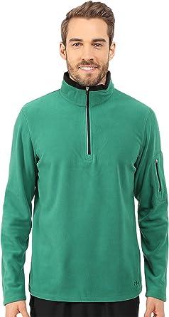 c7e353df9f14 Fila Men's Encore Half Zip Pullover, Verdant Green/Black MD at ...
