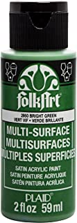 product image for FolkArt Bright Green Acrylic Paint, 2 Fl Oz