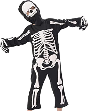 IKALI Disfraces Esqueleto Niños, Aterrador Halloween Zombie Ropa ...