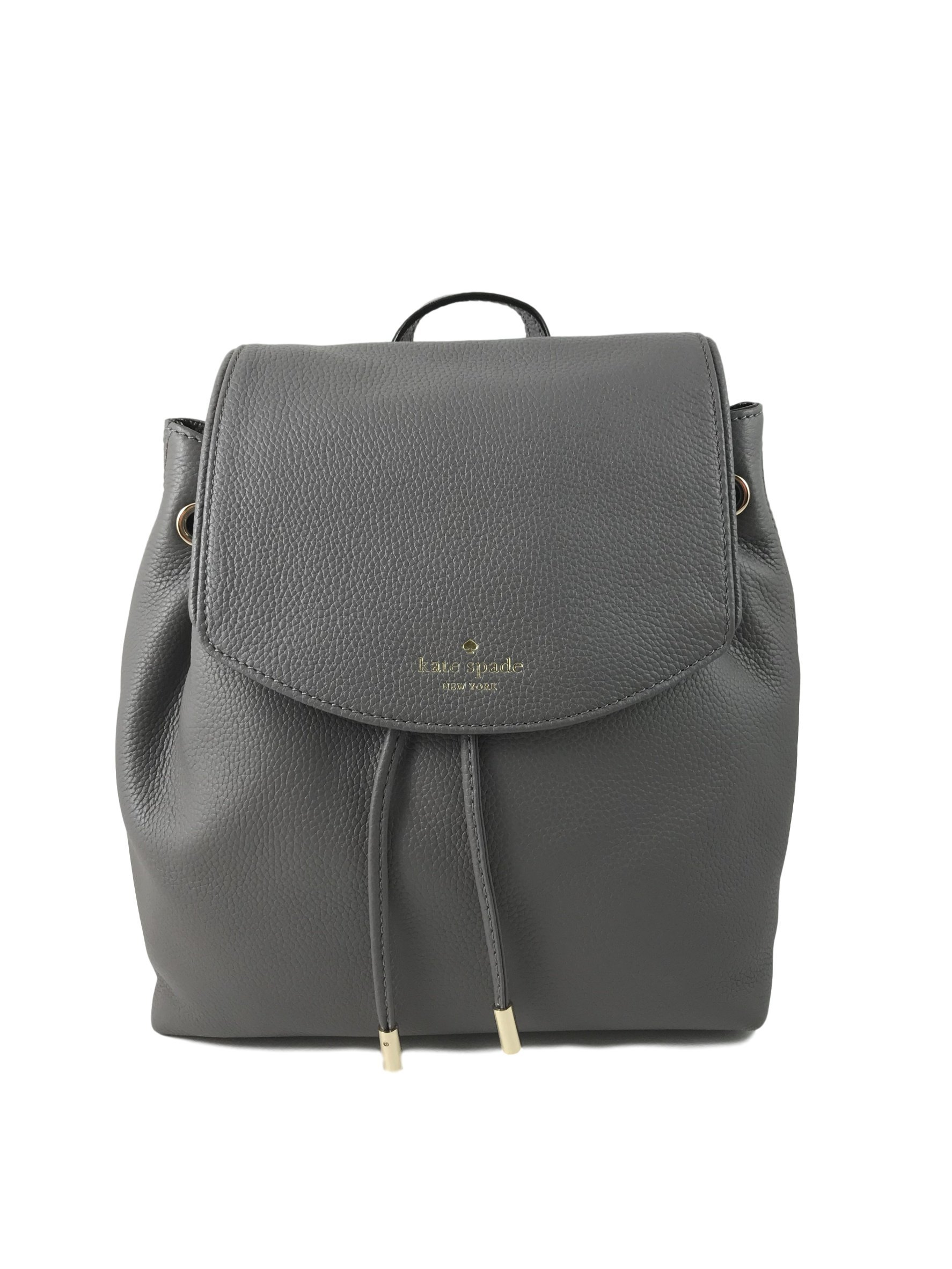 Kate Spade Mulberry Street Small Breezy Leather Backpack Bag in HareGrey