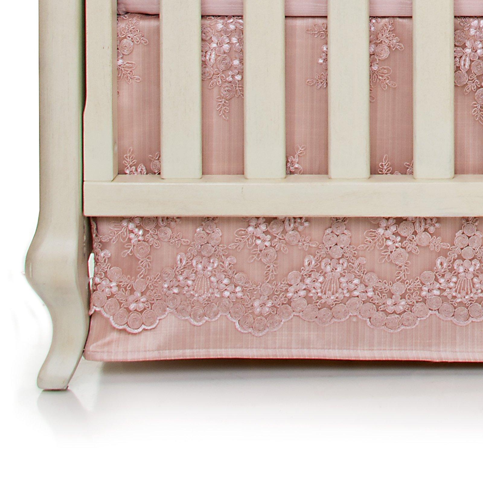 Glenna Jean Crib Skirt Remember My Love Dust Ruffle for Baby Nursery Crib