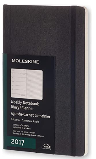 Moleskine Classic 12 Month 2017 Weekly Planner, Soft Cover, Large (5