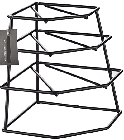 Corner 4 Tier Heavy Duty Black Plate Holder Stand / Plate Storage Rack  sc 1 st  Amazon.com & Amazon.com: CookSpace ?? Corner 4 Tier Heavy Duty Black Plate Holder ...