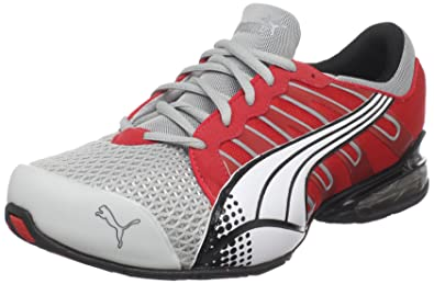 Puma Men's Voltaic 3 Sneaker,Grey/Violet/High Risk Red/White,