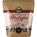 SaltWorks Ancient Ocean Himalayan Pink Salt, Extra Fine Grain, Bag, White and Pink to Dark Red, Mineral Salt, 5 lbs, 80 Oz