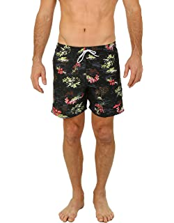 b7c9d0e4907e0 UZZI Men's Malibu Quick Dry Printed Short Swim Trunks | Amazon.com