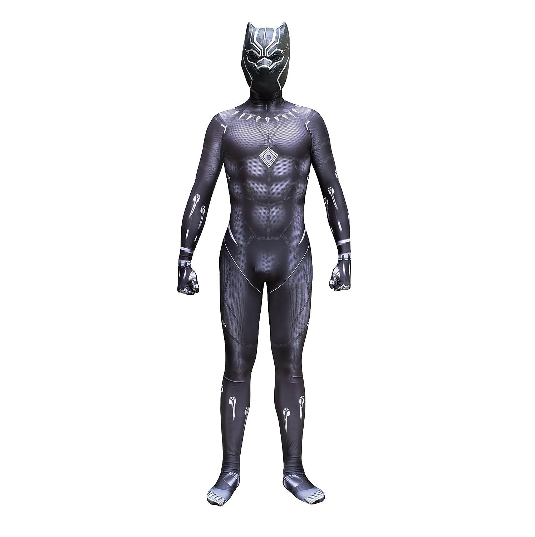 sin mínimo Adult Small BLL Nueva Pantera Negra Negra Negra CosJugar, película de impresión en 3D Manga T'Challa Medias siamesas Disfraz de Evento de Halloween  excelentes precios