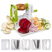 Deals on Lux Decor Collection Food and Vegetable Spiralizer and Slicer
