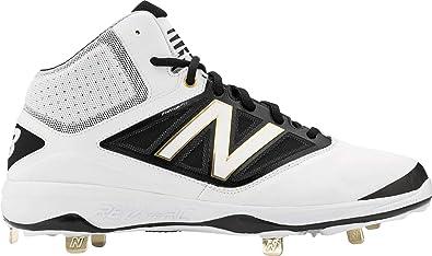 6b0218b55583f New Balance Mid-Cut 4040v3 Mens Cushioning Metal Baseball Cleat White/Black