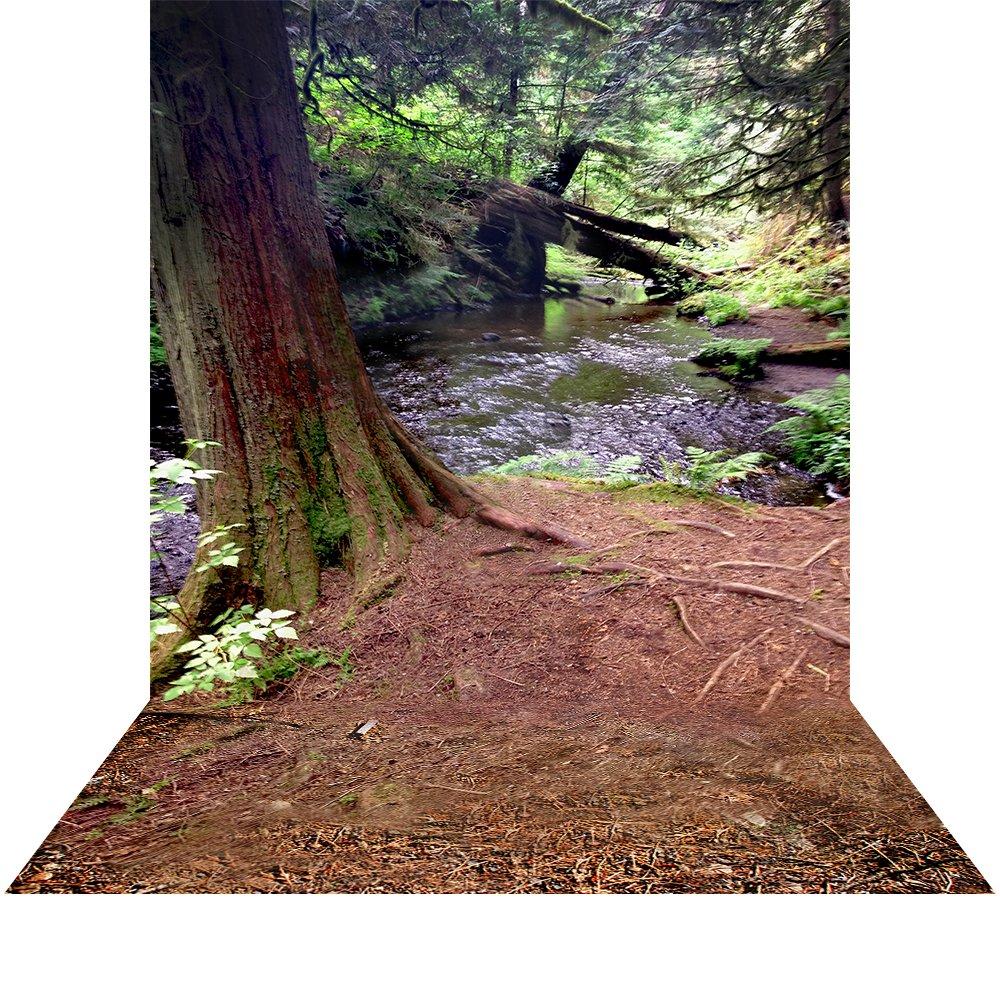 写真バックドロップwith床 – Spring Woods – 10 x 20 ft。シームレスなファブリック   B01MY3K7N7